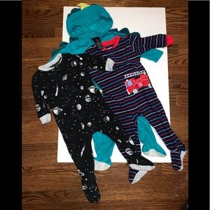 Other - 2/$25 3pc Baby boy footies pajama Carter's